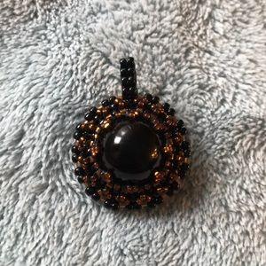 Beaded Black Onyx Pendent